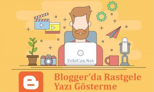 Bloggerda Rastegele Yazı Gösterme Kodu