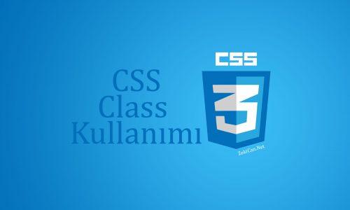 class yapısı, CSS de sınıf kullanımı