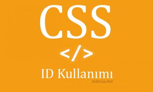 CSS dosyasında id kavramı ve kullanımı