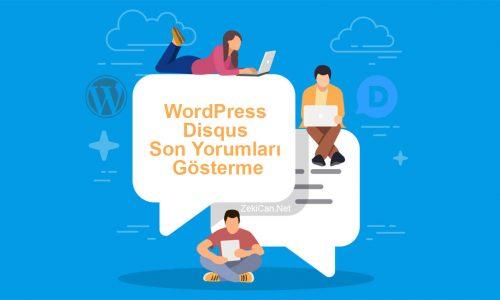 WordPress disqus yorum penceresi nasıl gösterili