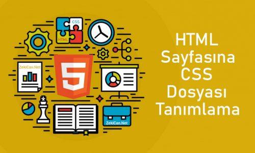 HTML Dosyasına Stil Etiketleri Ekleme