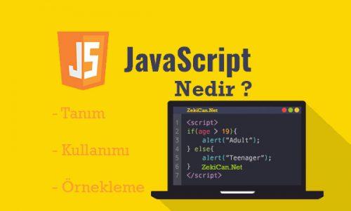 JavaScript Nedir Nasıl Kullanılır