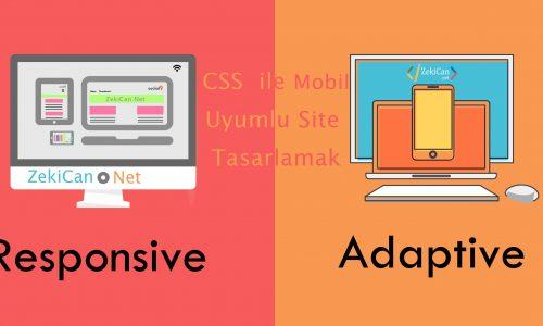 CSS ile Siteyi MObil Uyumlu responsive yapma