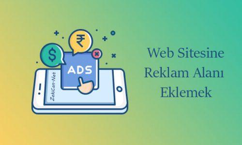 Web sitesinin sağına ve solunan sabit reklam alanları eklemek