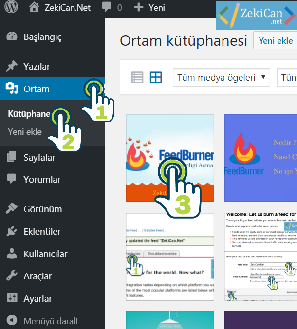WordPress Ortam Kütüphanesi