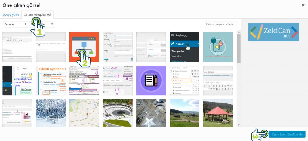 Wordpress öne çıkarılmış görsel ayarları