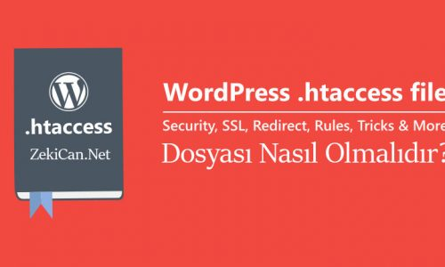 WordPress htaccess dosyası kodları