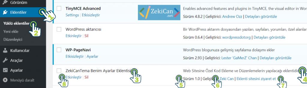 Wordpress sistemi için eklenti yapımı