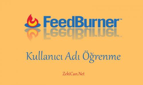 Feed Burner Kullanıcı Adı Öğrenme