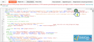 Blogger HTML düzenleme