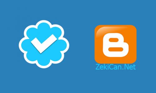 Bloggerda Mavi Tik işareti Koyma