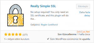 Really Simple SSL EKlentisi