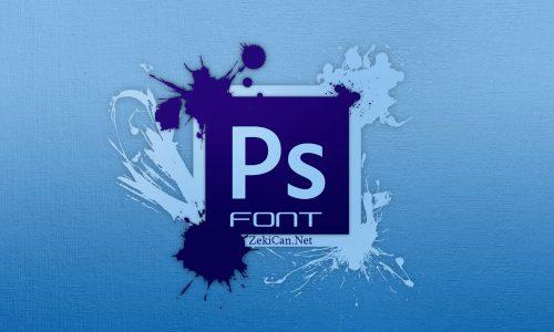 Photoshop Font Ekleme