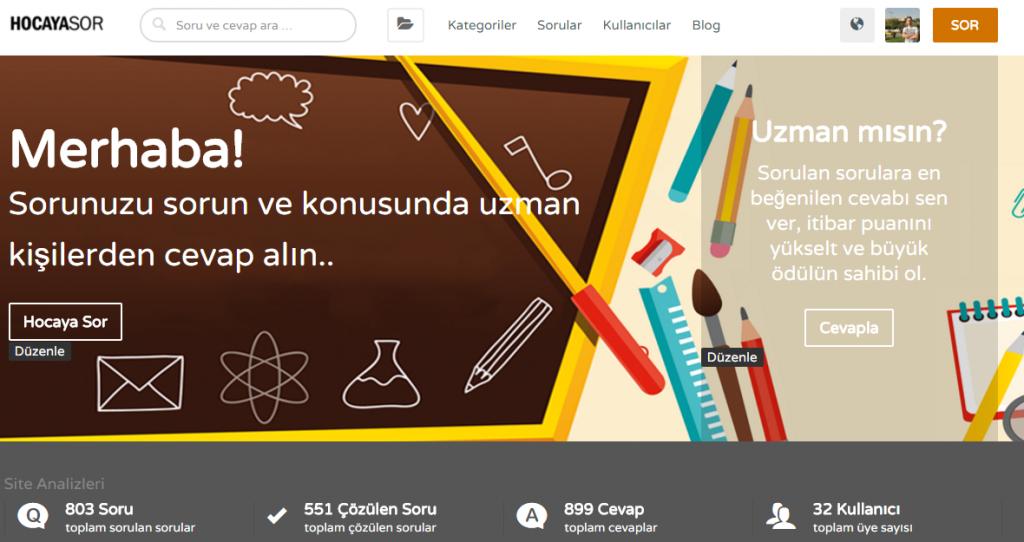 HocayaSor.com Ekran Görüntüsü