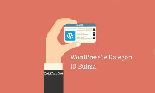 WordPress te Kategori İD Bulma