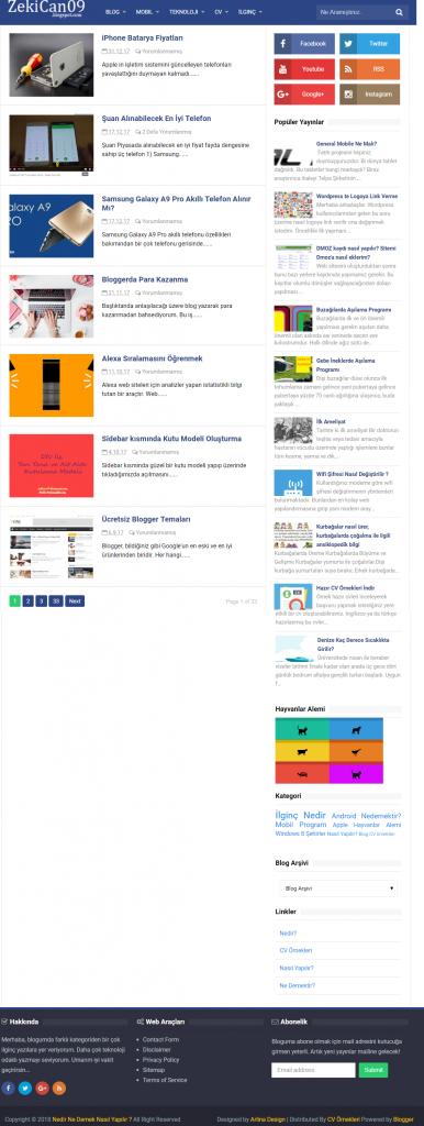 ZekiCan09 Blogspot com blogger web günlüğü