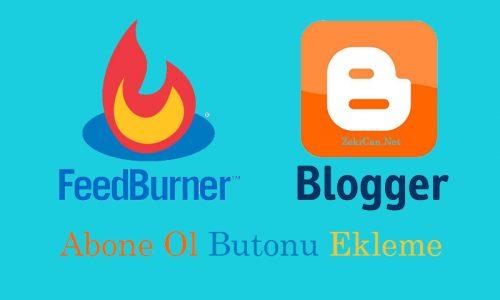 Blogger Web sitesine abone ol butonu koyma