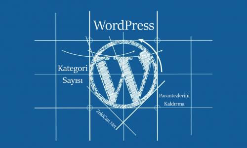WordPress Kategori Sayısı Parantezlerini Kaldırma