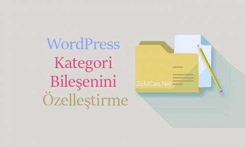 WordPress Kategori Bileşenini Özelleştirme
