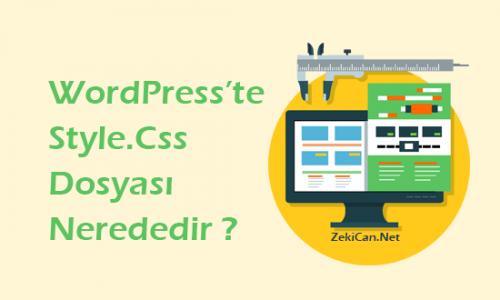 WordPress Stil Dosyası Nerede Bulunur?