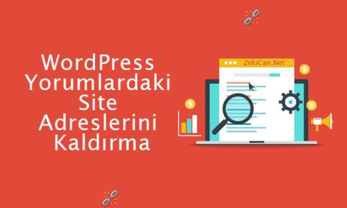 WordPress Yorumlardaki Linkleri Kaldırma