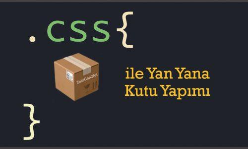 CSS ile Resppnsive Kutu Yapımı
