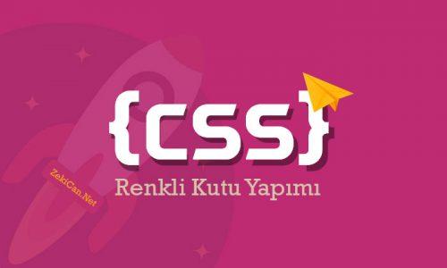CSS ile Renkli Gölgeli Kutu Oluşturma