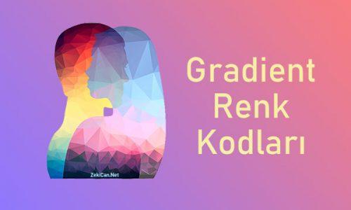 Gradient Renk Kodları Kullanımı
