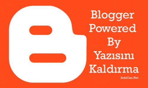 Bloggerda Atıf Yazısını Kaldırma