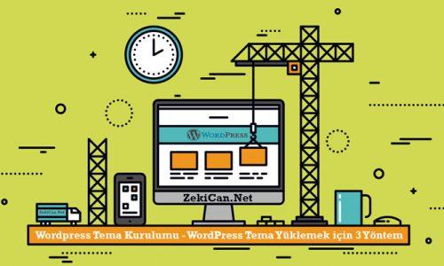 WordPress Tema Yükleme
