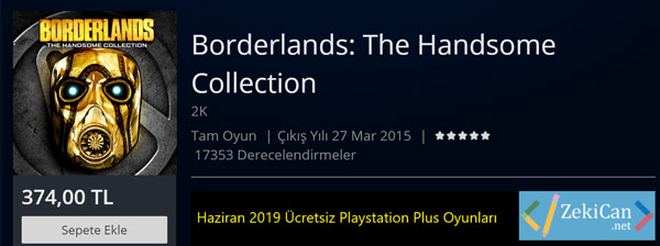 Ucretsiz Playstation Plus Haziran 2019 Oyunları