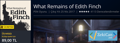 What Remains of Edith Finch oyunu