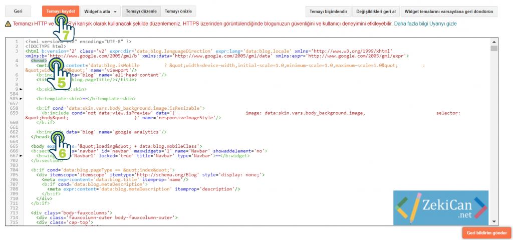 Header Php dosyası Nerede Blogger