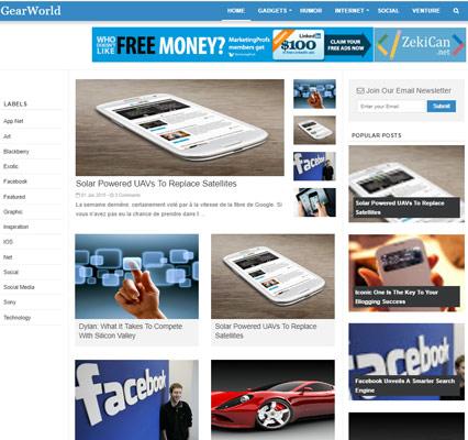 Gearl World Blogger Teması