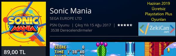 Sonic Mania - Ücretsiz Verilen Oyunlar