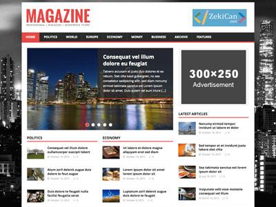 MH Magazine Ücretsiz WordPress Teması