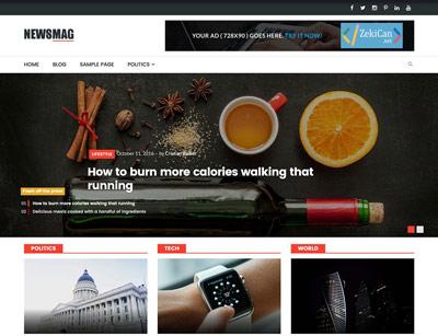 NewsMag Ücretsiz WordPress Teması