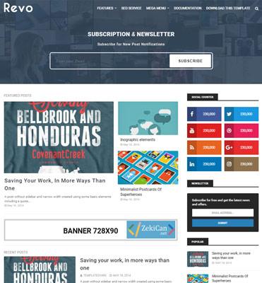 Revo Ücretsiz Blogger Teması 2019