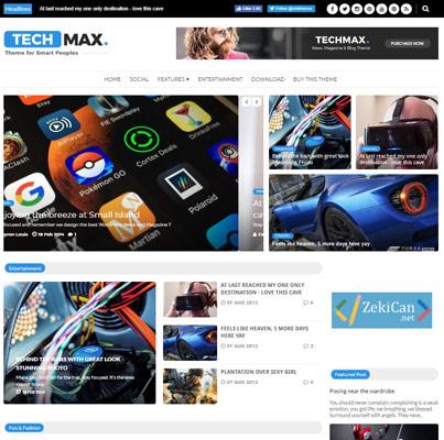 Techmax Blogger Teması