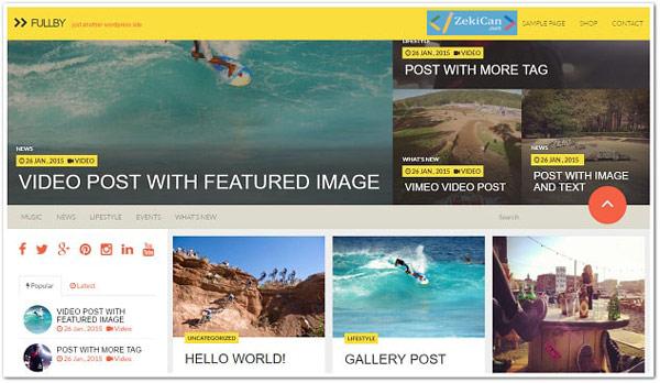 Fullby WordPress Ücretsiz Tema