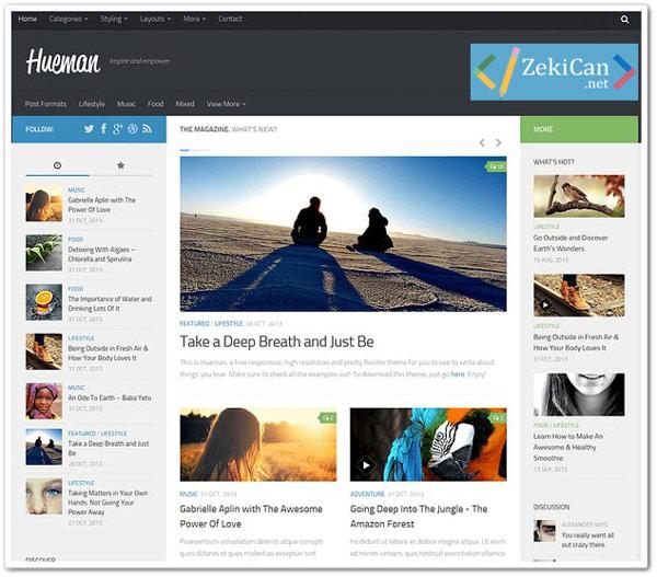 Hueman Ücretsiz WordPress Teması