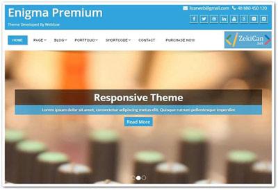 Enigma Ücretsiz WordPress Teması