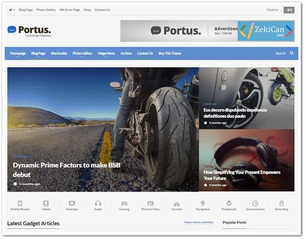 WordPress En İyi Teknoloji Temaları - Portus Teknoloji Teması