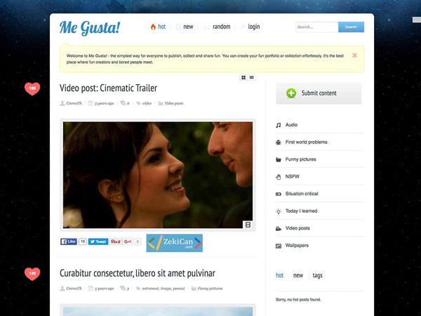 Me Gusta! Ben Gusta WordPress Teması