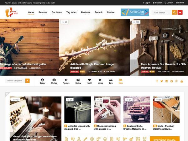 Foot WordPress Teması