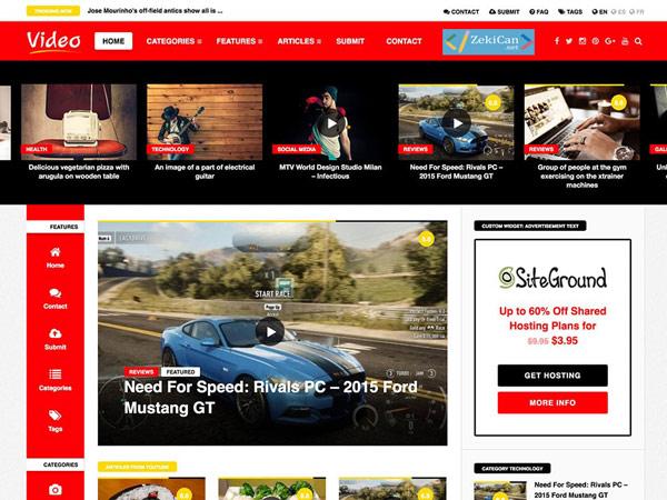 WordPress Temaları - Video News - Video siteleri için tema