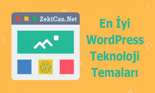 WordPress Teknoloji Temaları, WordPress Ücretsiz Tema İndir