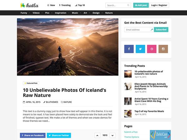 Katla WordPress Teması