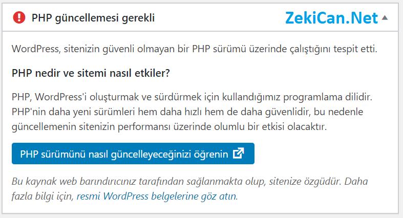 PHP Güncellemesi Nasıl yapılır