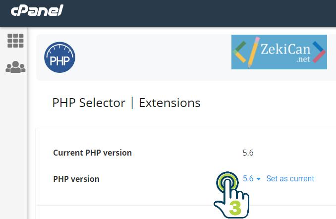PHP Verisyonunu Guncelleme